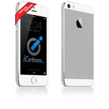 iPhone 5S - SE Brushed Aluminum/White Carbon Fiber - iCarbons - 1