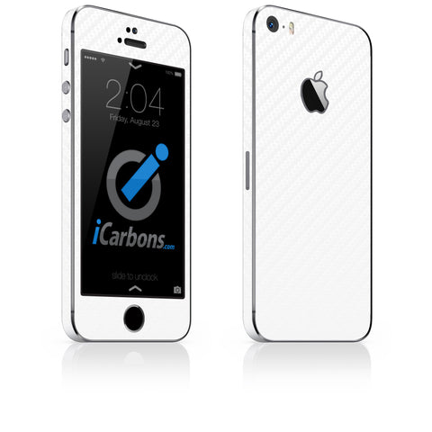 iPhone 5S / SE - White Carbon Fiber - iCarbons - 1