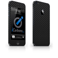 iPhone 5 Skin - Black Carbon Fiber