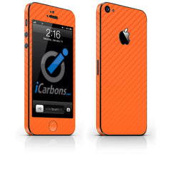 iPhone 5 Skin - Orange Carbon Fiber