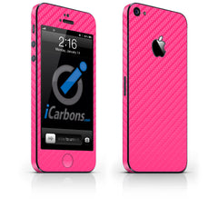 iPhone 5 Skin - Pink Carbon Fiber