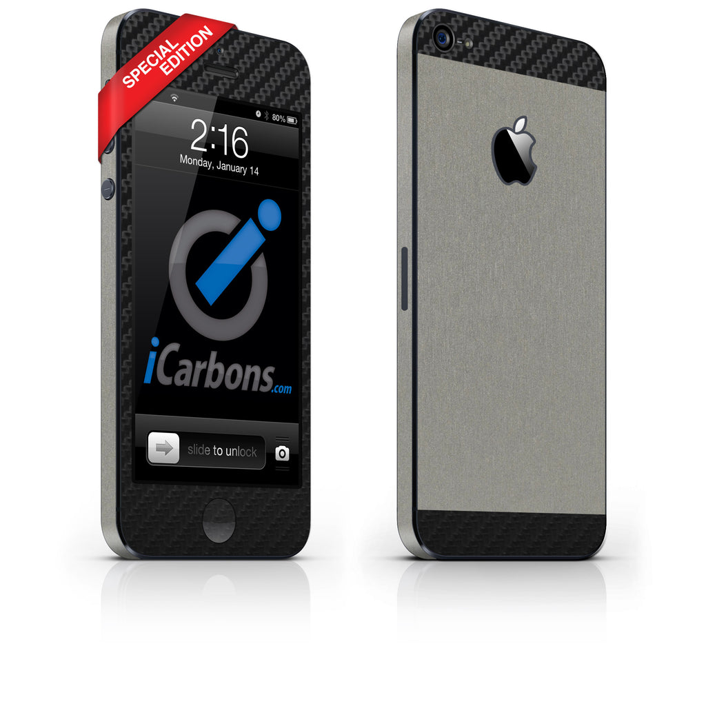 iPhone 5 - Two/Tone - SE Titanium/Black - iCarbons - 1