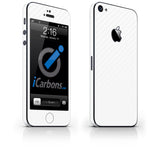 iPhone 5 Skin - White Carbon Fiber - iCarbons - 1