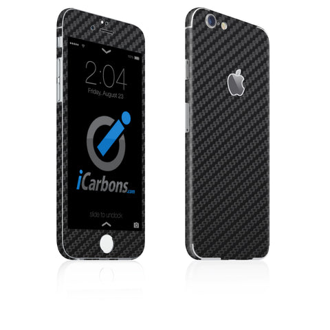 iPhone 6 / 6S Skin - Black Carbon Fiber - iCarbons - 1