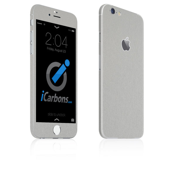 iPhone 6 / 6S Skin - Brushed Aluminum - iCarbons
