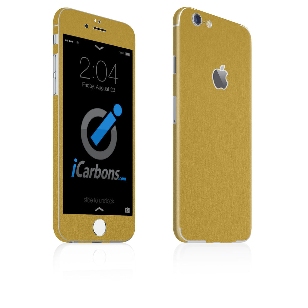 iPhone 6 / 6S Skin - Brushed Gold - iCarbons