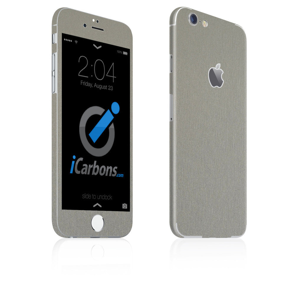 iPhone 6 / 6S Skin - Brushed Titanium - iCarbons