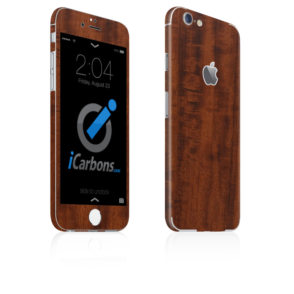 iPhone 6 / 6S Skin - Dark Wood - iCarbons