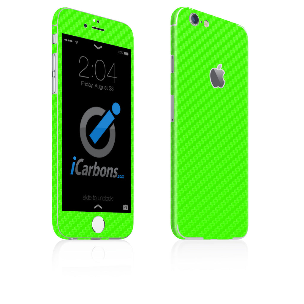 iPhone 6 Plus / 6S Plus Skin - Green Carbon Fiber - iCarbons