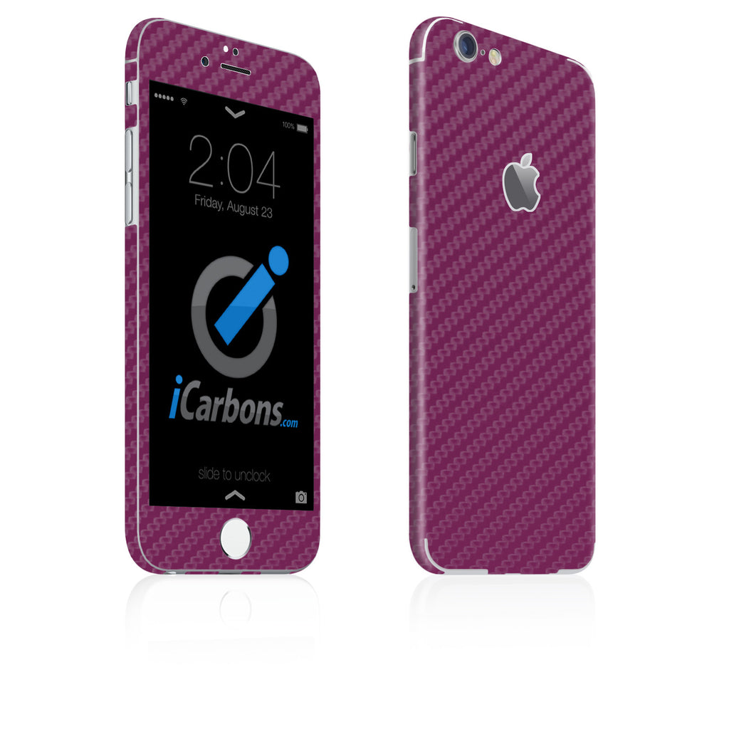 iPhone 6 Plus / 6S Plus Skin - Purple Carbon Fiber - iCarbons