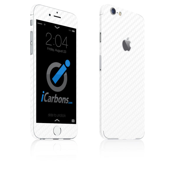 iPhone 6 / 6S Skin - White Carbon Fiber - iCarbons - 1