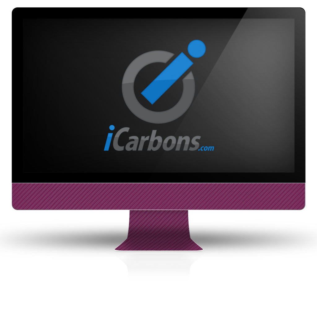 "iMac 27"" - Purple Carbon Fiber - iCarbons"