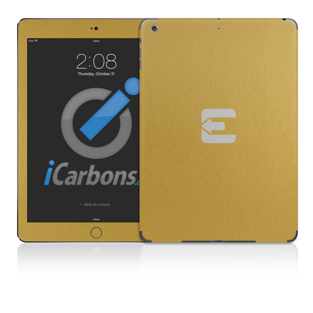 Official Evad3rs iPad Skin - Brushed Gold - iCarbons - 1