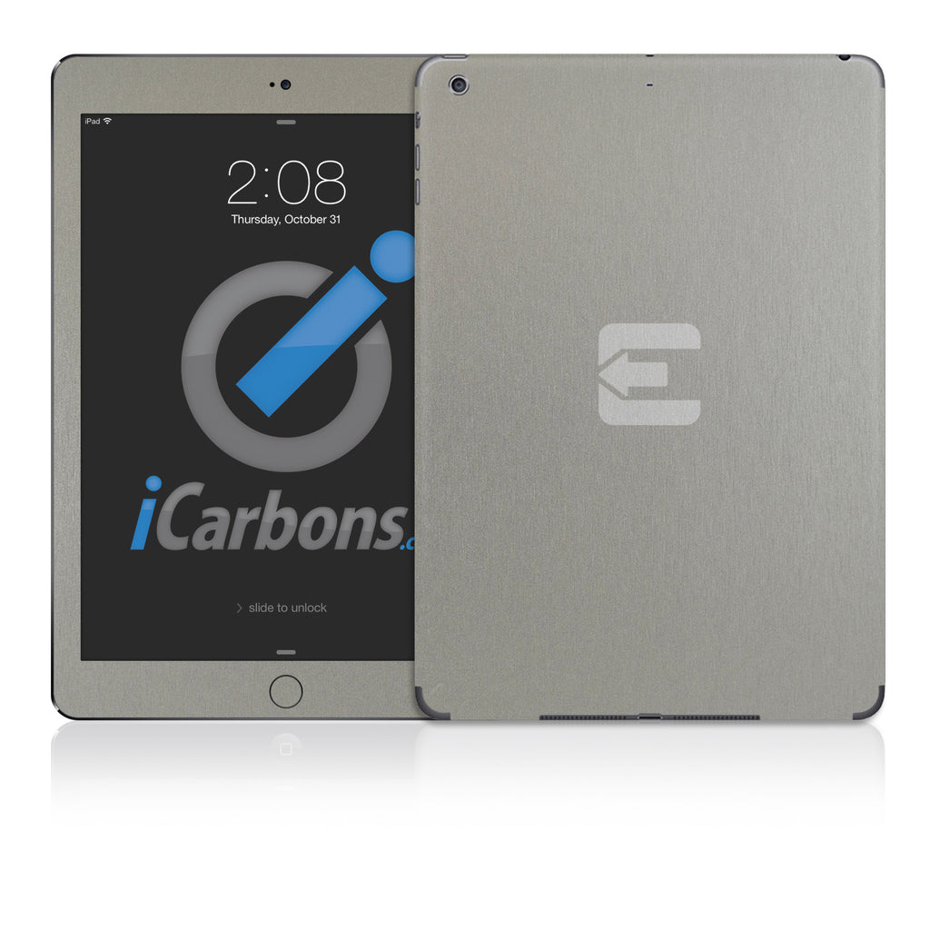 Official Evad3rs iPad Skin - Brushed Titanium - iCarbons - 1