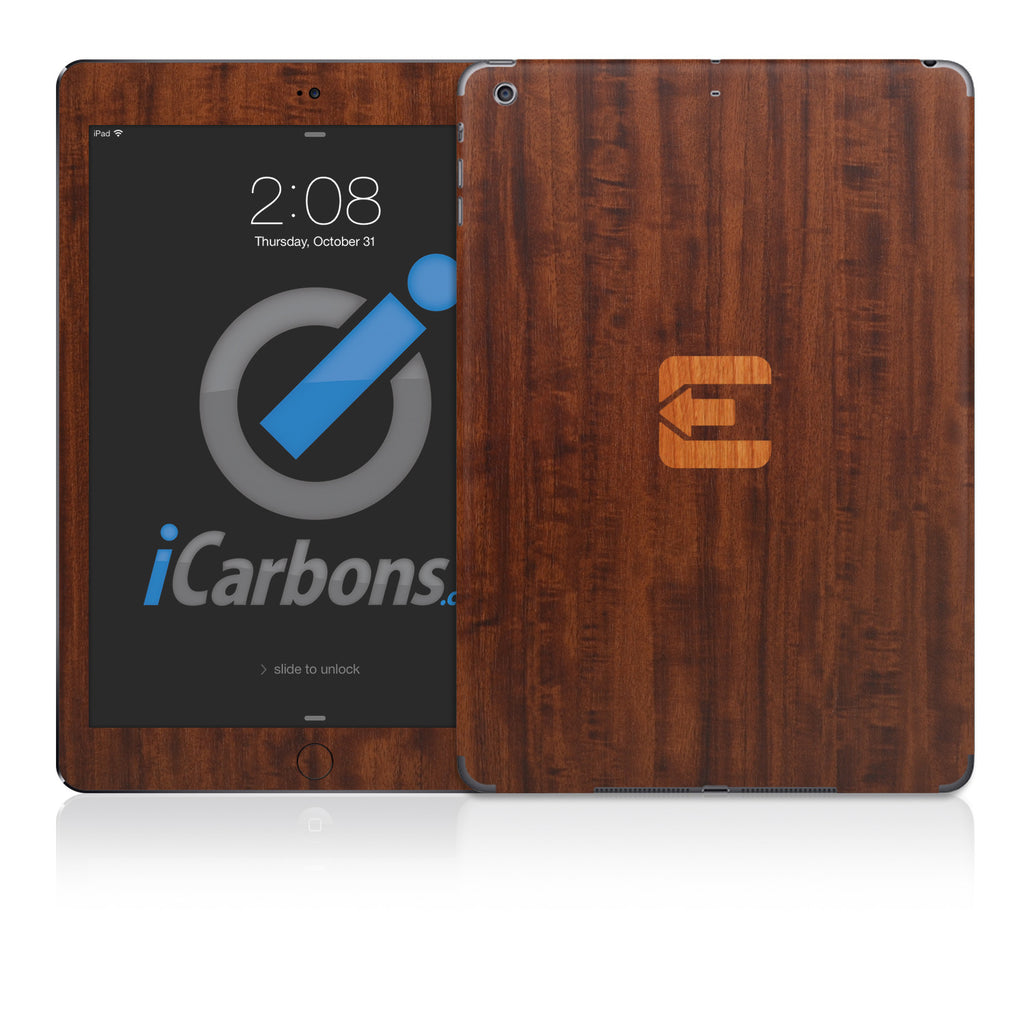 Official Evad3rs iPad Skin - Dark Wood - iCarbons - 1