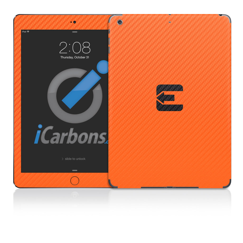 Official Evad3rs iPad Skin - Orange Carbon Fiber - iCarbons - 1