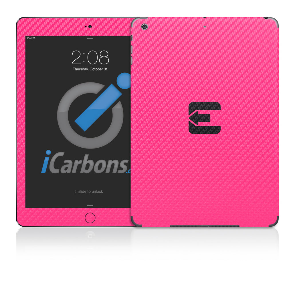Official Evad3rs iPad Skin - Pink Carbon Fiber - iCarbons - 1