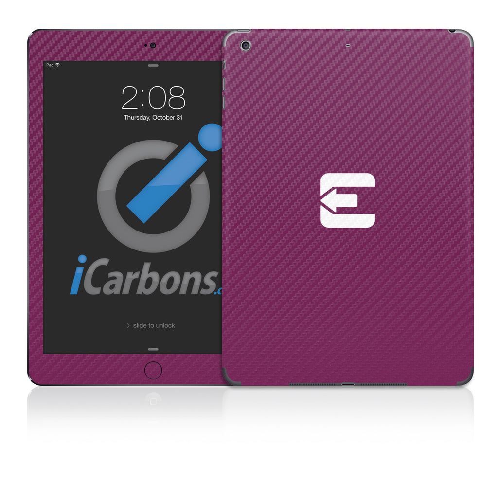 Official Evad3rs iPad Skin - Purple Carbon Fiber - iCarbons - 1