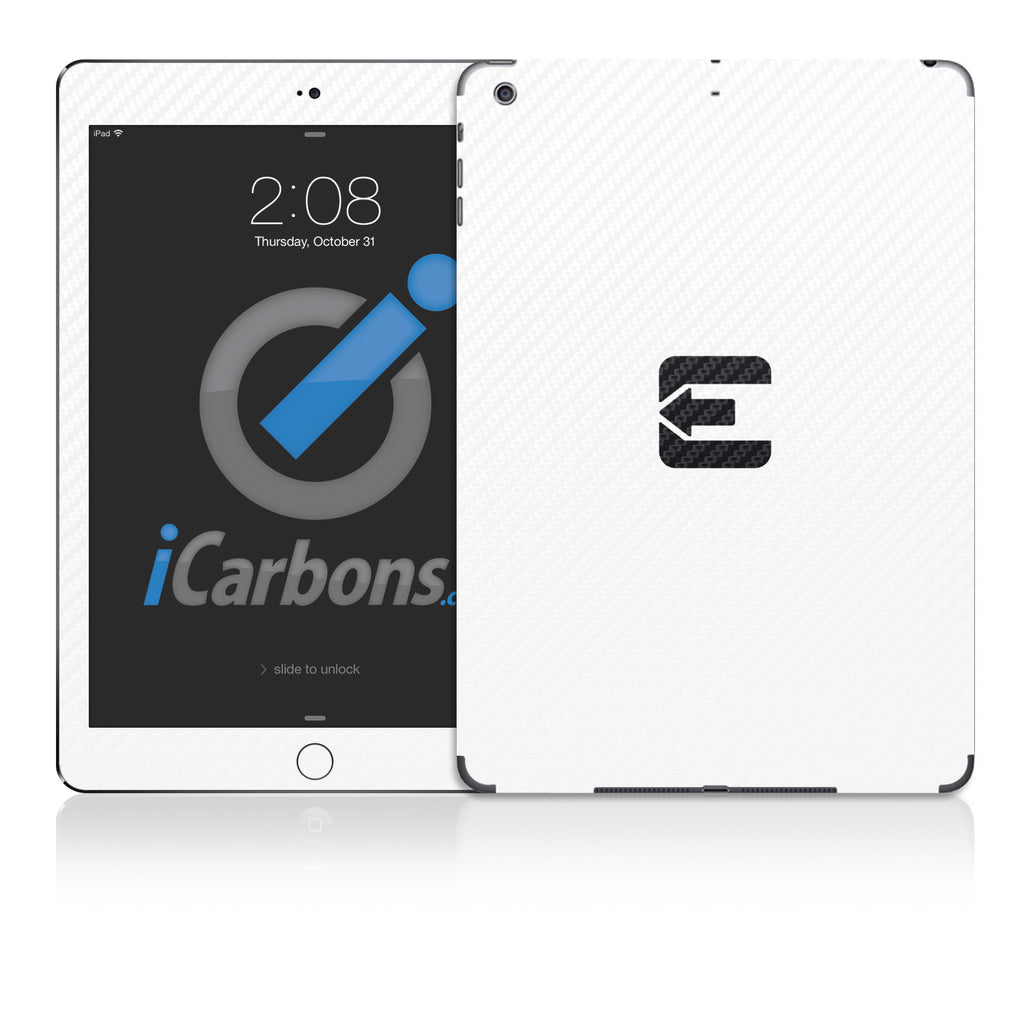 Official Evad3rs iPad Skin - White Carbon Fiber - iCarbons - 1