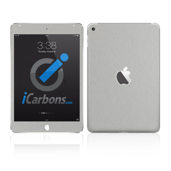 iPad Mini 4 Skins - Brushed Metal - iCarbons - 1