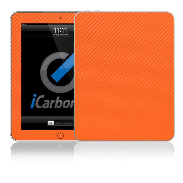 iPad Skin (1st Gen) - Orange Carbon Fiber - iCarbons