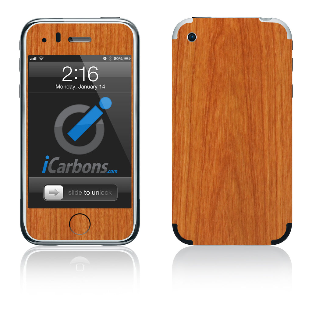 iPhone 2G - Light Wood - iCarbons