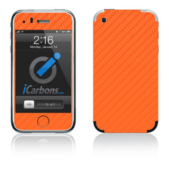 iPhone 2G - Orange Carbon Fiber
