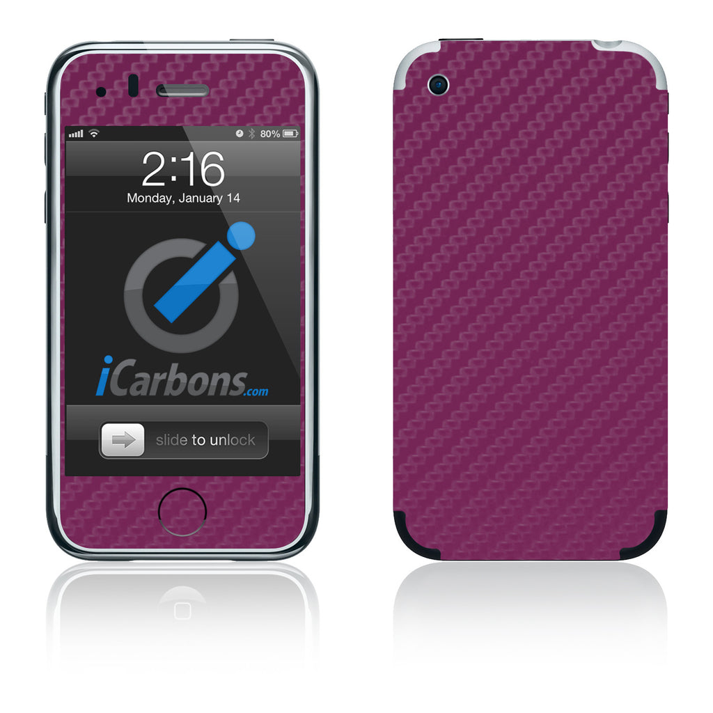 iPhone 2G - Purple Carbon Fiber - iCarbons