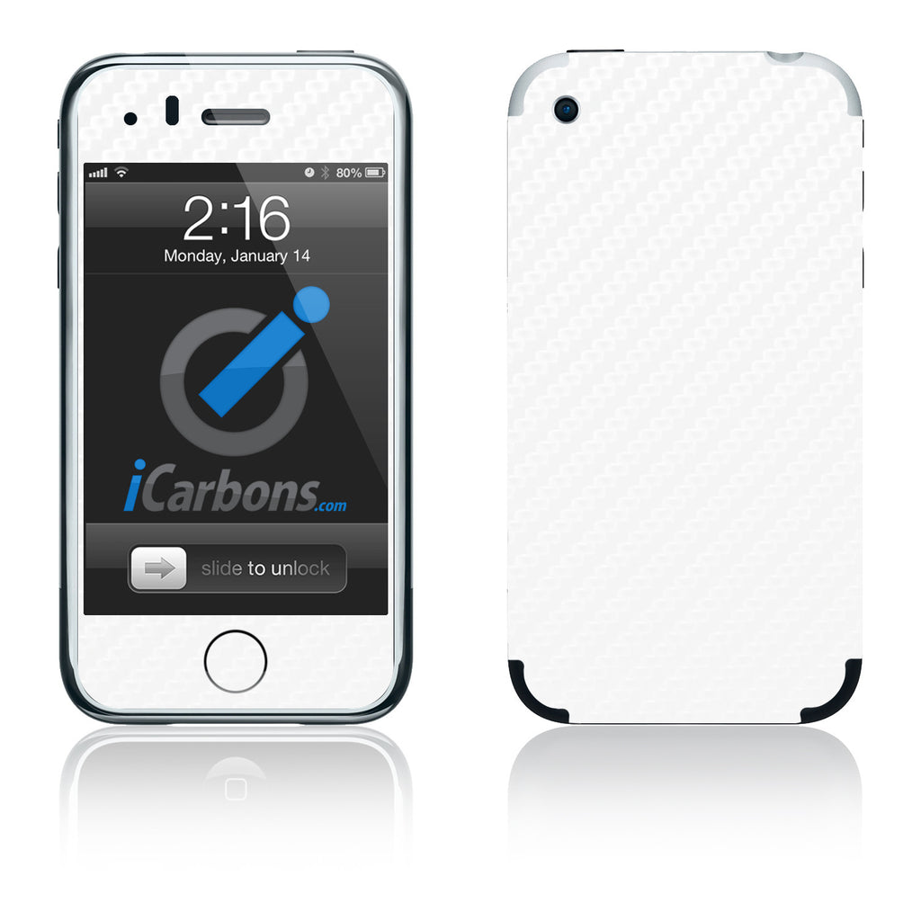 iPhone 2G - White Carbon Fiber - iCarbons
