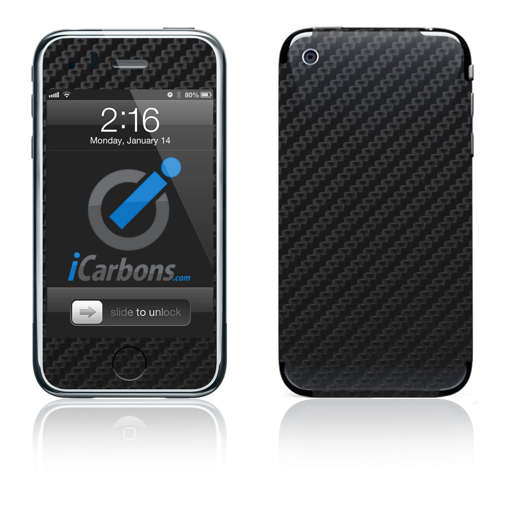 iPhone 3G/3GS - Black Carbon Fiber - iCarbons