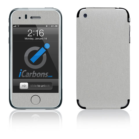iPhone 3G/3GS - Brushed Aluminum - iCarbons