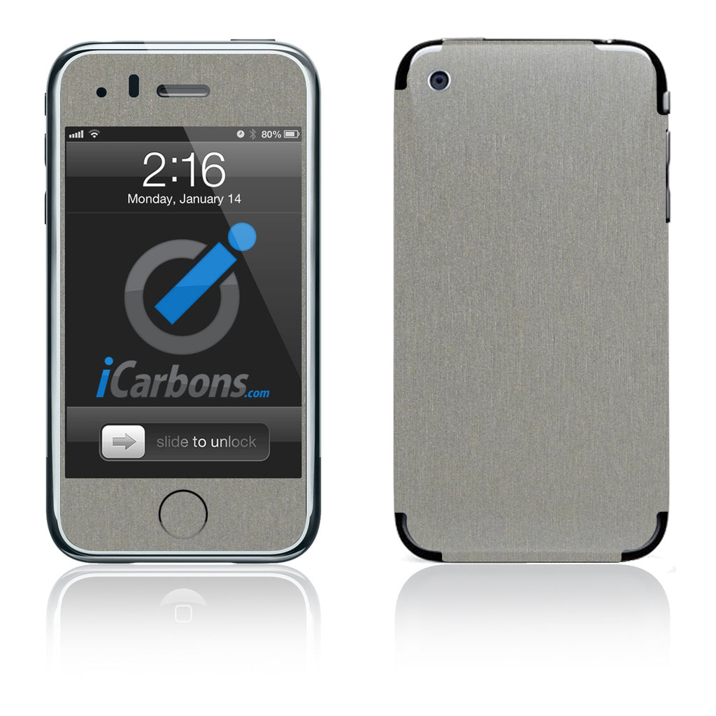 iPhone 3G/3GS - Brushed Titanium - iCarbons