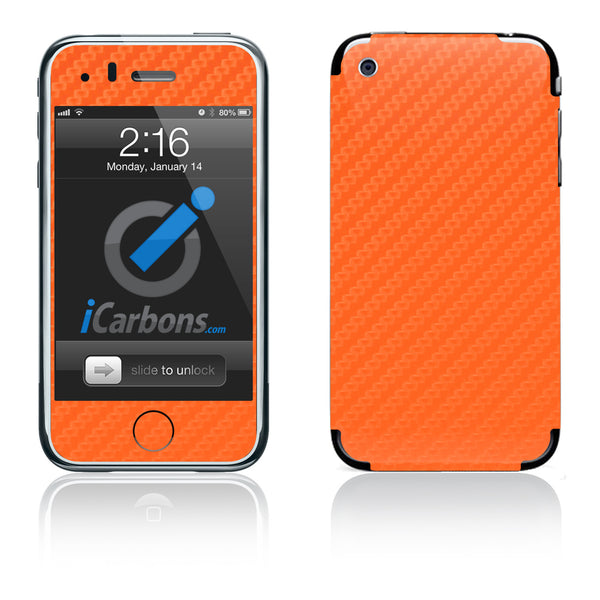 iPhone 3G/3GS - Orange Carbon Fiber - iCarbons
