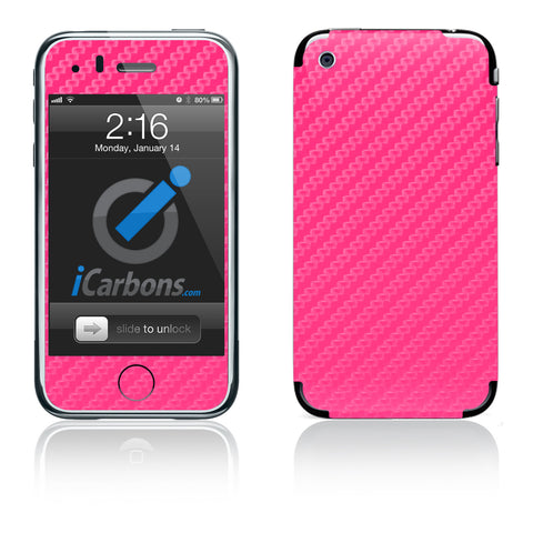 iPhone 3G/3GS - Pink Carbon Fiber - iCarbons