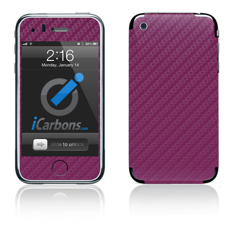 iPhone 3G/3GS - Purple Carbon Fiber - iCarbons