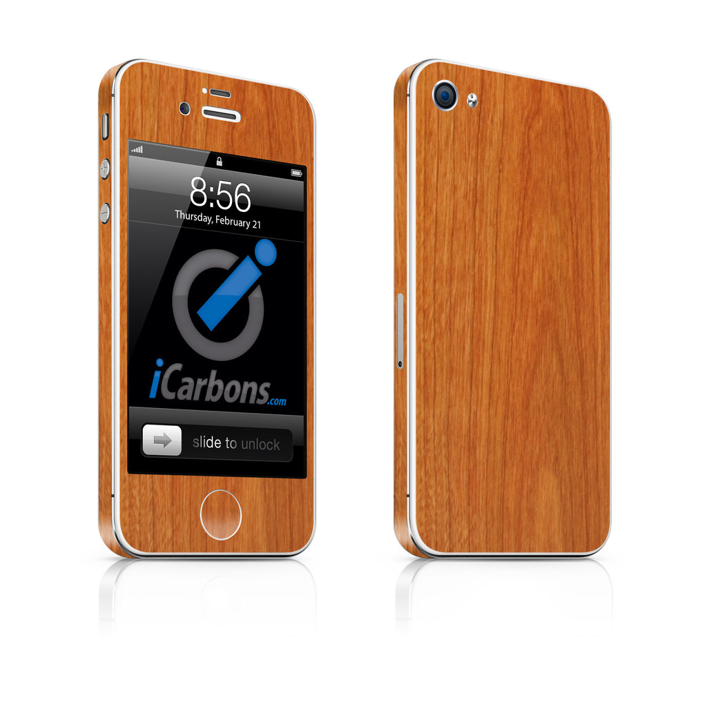 iPhone 4S Skin - Light Wood - iCarbons