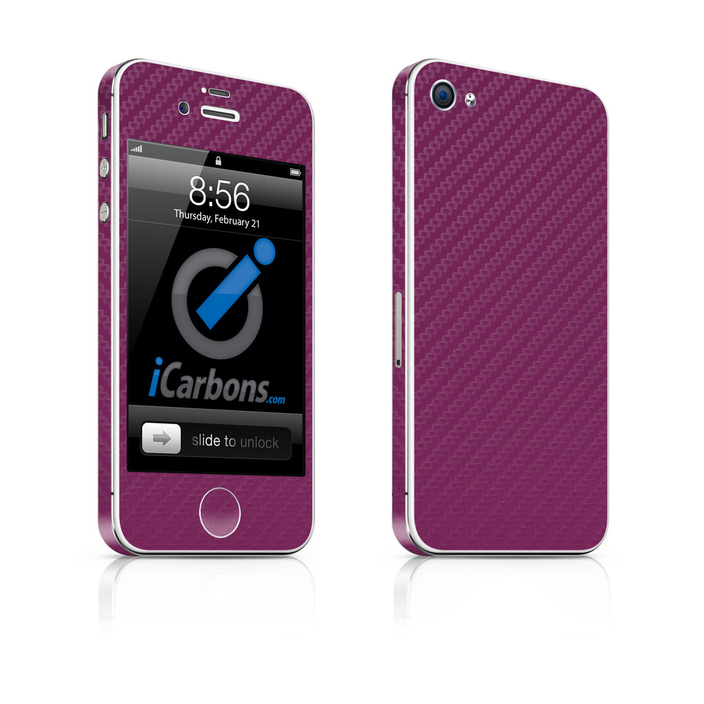 iPhone 4S Skin - Purple Carbon Fiber - iCarbons