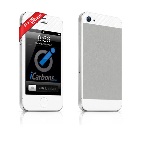 iPhone 4S - Two/Tone - SE Aluminum/White - iCarbons