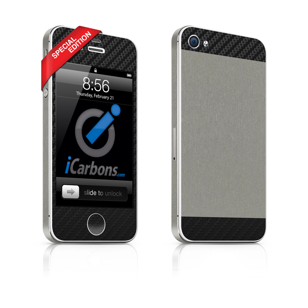 iPhone 4S - Two/Tone - SE Titanium/Black - iCarbons