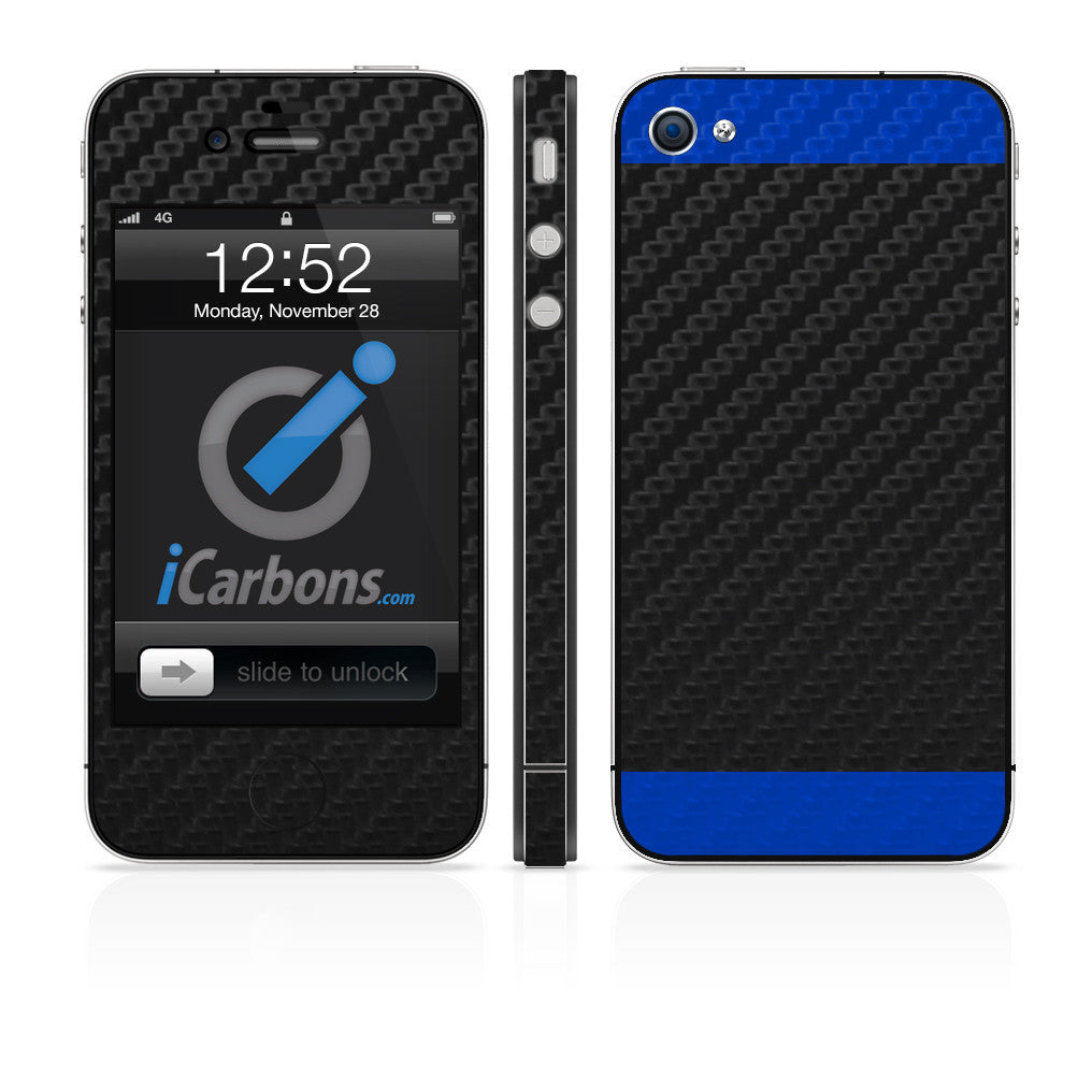 New iPhone 4 - Two/Tone - Black/Green Carbon Fiber - iCarbons