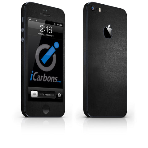 iPhone 5S / SE - Black Leather - iCarbons - 1