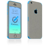 iPhone 5C Skins - Brushed Metal - iCarbons - 6