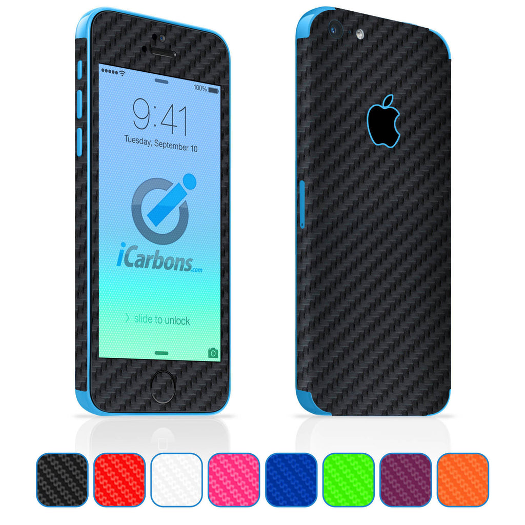iPhone 5C Skins - Carbon Fiber - iCarbons - 1