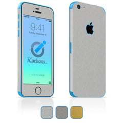 iPhone 5C Skins - Brushed Metal
