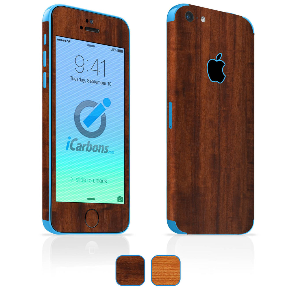 iPhone 5C Skins - Wood Grain - iCarbons - 1