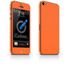 iPhone 5 Skin - Orange Carbon Fiber - iCarbons - 2