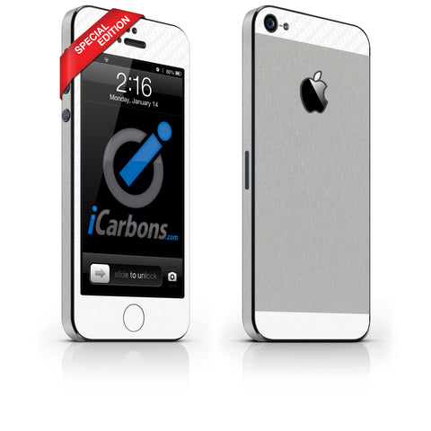 iPhone 5 - Two/Tone - SE Aluminum/White - iCarbons - 1
