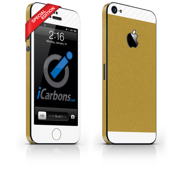 Phone 5 - Two/Tone - SE Gold/White - iCarbons - 1
