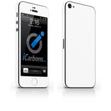 iPhone 5 Skin - White Carbon Fiber - iCarbons - 2