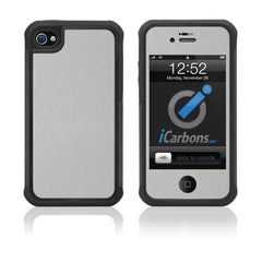iPhone 4 / 4S HD Skin Case - Brushed Metal